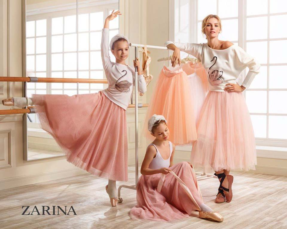 ЕВГЕНИЯ ВОРОНОВА – Zarina Campaign with Valentina Zelyaeva by Danil Golovkin – EVGENIA VORONOVA